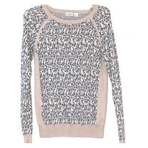 Leopard print light sweater
